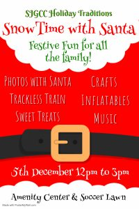 Snow TIme with Santa December 5th 12-5pm